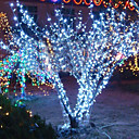 10M 6W 100-LED White Light String Lamp for Christmas Halloween Festival Decoration (110/220V)