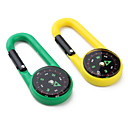 Plastic Button Shape Compass and Carabineer for Mountaineering