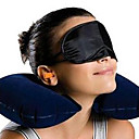 u-muotoinen puhallettavat tyyny, eyeshade ja korvatyynyn sarja