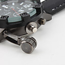 Men's Military Style Black Case Silicone Band Quartz Wrist Watch Cool Watch Unique Watch