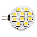 G4 1.5W 10 SMD 5050 90 LM Warm White LED Spotlight DC 12 V