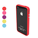 TPU Cover med Metal Knapper til iPhone 4 og 4S