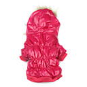 Dog Hoodie / Clothes/Clothing Red Winter Solid