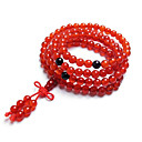 Brazil Natural 3A Red Agate 108 Prayer Beads Bracelet