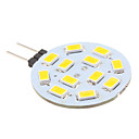 G4 2W 12 SMD 5630 220 LM Warm White LED Bi-pin Lights DC 12 V