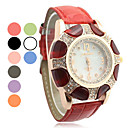 Women's Steel Band Analog Quartz Cuff Bracelet Watch With Colorful Flower Pattern Dial