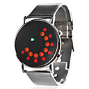 Unisex Dress Style Steel Digital LED Wrist Watch (Silver)