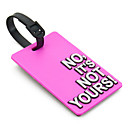 Travel Luggage Tag - NO, NO ES TUYO (Rosa)