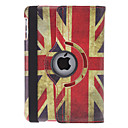 Drejeligt design Retro UK Flag Mønster PU Læder taske med holder til iPad mini