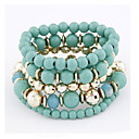 Joker Western Amorous Feelings Beaded Multilayer Elastic Bracelet (Assorted Colors)
