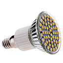 Lampadina LED, luce bianca/calda E14 60x3528 SMD 3.5W 400LM 2800-3200K 9220-240V)