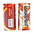 MarsFire 16340 Protected 3.7V 900mAh Rechargeable Li-ion Batteries (2-Pack)