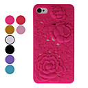 Rose Pattern Hard Case for iPhone 4 (Assorted Colors)