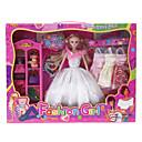 Fashion Girl Barbie Doll Garderobe med fire kjoler og tilbehør (Model: 6123)