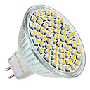 GU5.3(MR16) 3W 60 SMD 3528 250 LM Warm wit MR16 LED-spotlampen DC 12 V