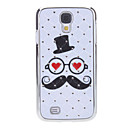 Beard Pattern Hard Case with Rhinestone for Samsung Galaxy S4 I9500