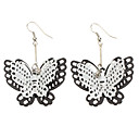 Black And White Hollow Butterfly Alloy Earrings
