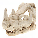 Cool Durable Rhinoceros Skull Style Decoration for Aquariums