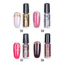 1PCS Glitter Nail Art Top Coat Polish decorativa No.5-8 (7 ml, cores sortidas)