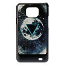 Triangle and Planet Pattern Hard Case for Samsung Galaxy S2 I9100