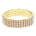 Four Rows Golden Diamond Bracelet