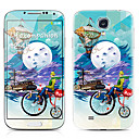 Gentleman Pattern Front and Back Protector Stickers for Samsung Galaxy S4 I9500