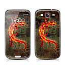 Monster Pattern Front and Back Protector Stickers for Samsung Galaxy S3 I9300