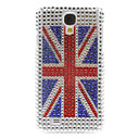 Rhinestone Decorated England Flag Pattern Hard Case for Samsung Galaxy S4 I9500