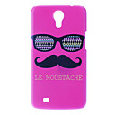 Matte Style Glasses and Moustache Pattern Hard Case for Samsung Galaxy Mega 6.3 I9200
