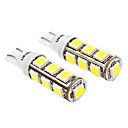 Buy T10 6W 13x5060SMD 480-520LM 6000-6500K White Light LED Bulb Car (DC 12V, 2-Pack)