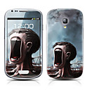 Monster Tree Pattern Front and Back Protector Stickers for Samsung Galaxy S3 mini I8190