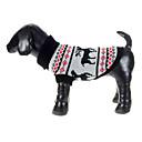 Invierno - Gris - Navidad - Tejido de lana - Suéteres - Perros - XS / M / XL / S / L