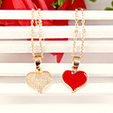 Women's Korean Fashion golden peach heart Bonelink sweater chain  (random color)