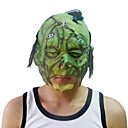 Scar Green Face Mask with Head Cover Halloween Costume Party