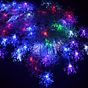 20-LED 4M Vandtæt EU Plug Outdoor juleferie Dekoration Flower RGB Light LED String Light (220V)