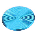 Spiral Style Blue Alloy Home Button Sticker for iPhone/iPad/iPod