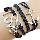 Fashion 7Cm Women'S Black Fabric Wrap Bracelet(Black)(1 Pc)