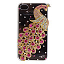 Magnificent Peacock with Diamond Covered Hard Case with Adhesive for iPhone 4/4S (Assorted Colors)