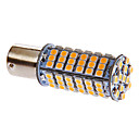 Ba15s/1156 5W 102x3528SMD 306LM 3000-3500K Warm White Light LED Bulb for Car (DC 12V)