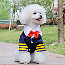 Lovely Navy Captain Style Shirt with Bowknot for Pets Dogs (Assorted Sizes)