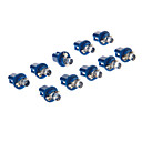 B8.5D 1-LED 10-20LM Blue Light LED pære til bil (12V, 10pcs)