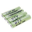 Аккумуляторные батареи, зеленые, BTY Ni-MH 800 AAA 1.2V 4шт.