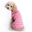 Dog Sweater Pink Winter Hearts Keep Warm