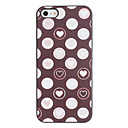 Romantic Hearts innanför cirkeln Pattern PC Hard Case med svart ram för iPhone 5/5S