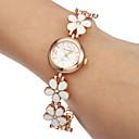 relógio flor banda pulseira liga das mulheres