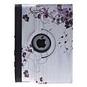 Etui pour iPad 2/3/4 avec Support, Rotation 360 Degrés, Motif Fleurs