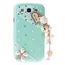 Jewels and Bling Flowers Pattern Transparent Hard Back Cover Case with Glue for Samsung Galaxy S3 I9300
