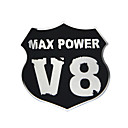 Buy tainless Steel Max Power V8 Shield/Emblem Easy Peel & Stick Installation Decal Car Sticker Badges