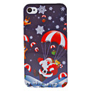 Christmas Series Father Christmas and Parachute Pattern Hard Case for iPhone 4/4S