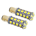 1157/BA15D 7W 30x5050SMD 580LM 5500-6500K Cool White Light LED Bulb for Car (12V,2pcs)